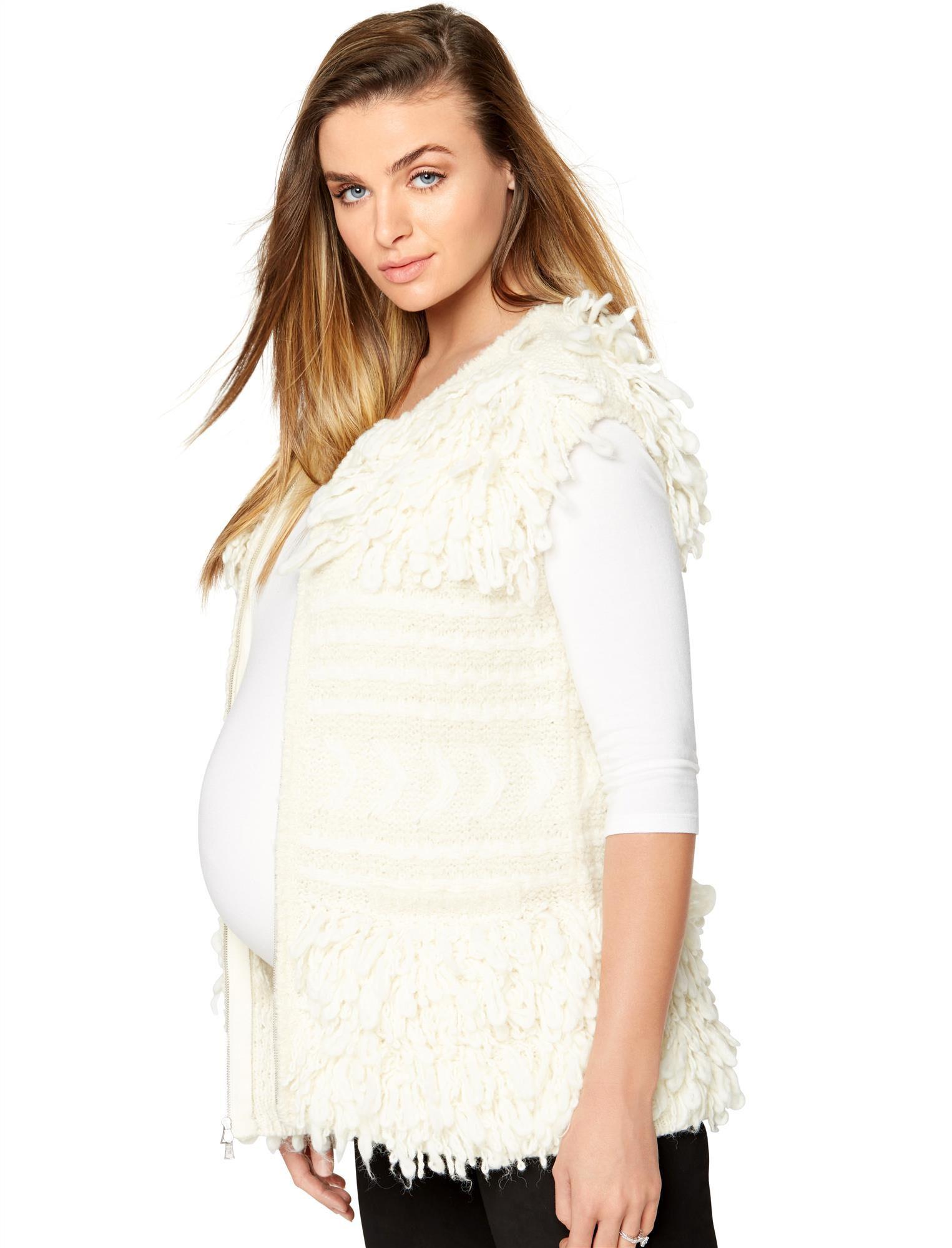BCBGMAXAZRIA Textured Maternity Vest