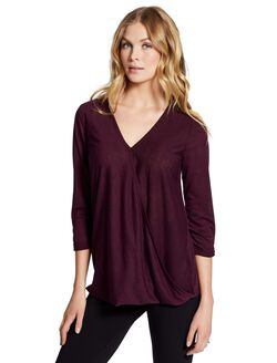 Jessica Simpson Pull Over Wrap Nursing Top, Purple