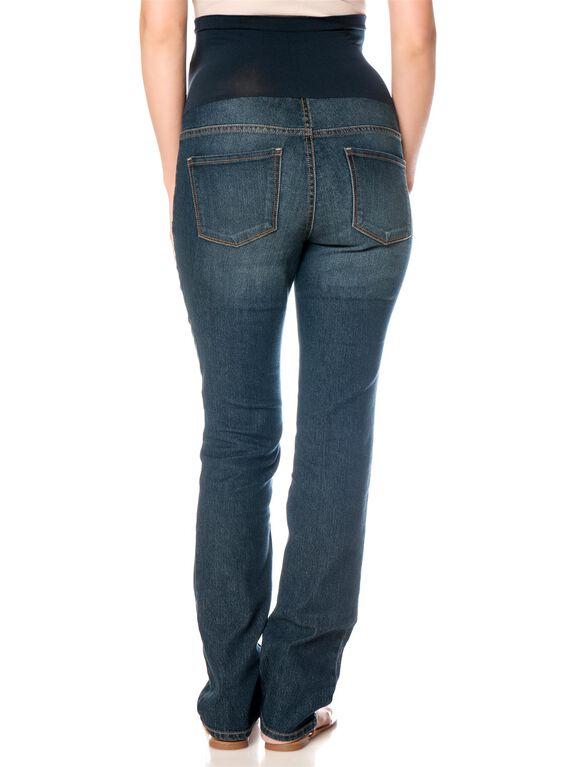 Secret Fit Belly Tall Straight Leg Maternity Jeans, Dusted Medium Wash