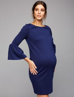 Pietro Brunelli Sara Bell Sleeve Maternity Dress, Navy