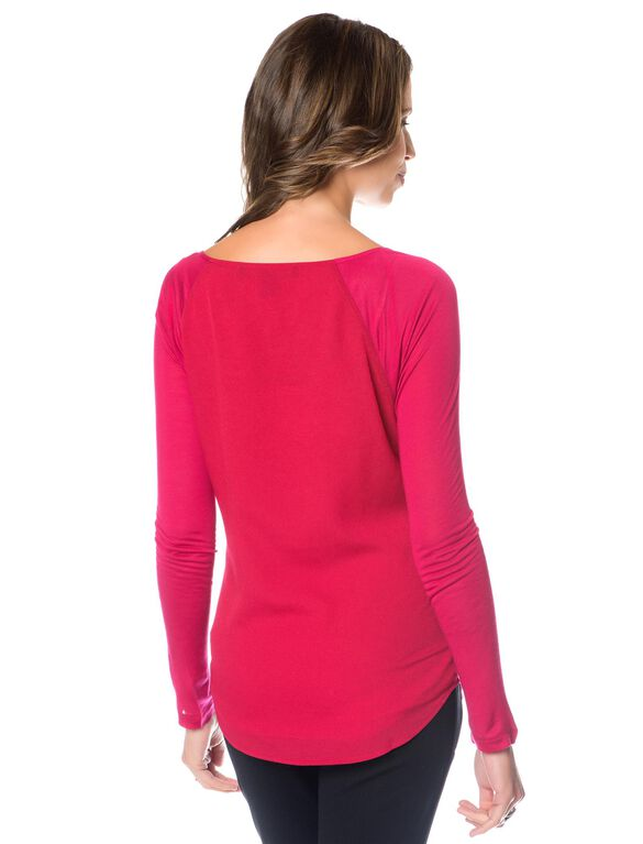 French Connection Slim Fit Maternity Blouse, Berry Punch