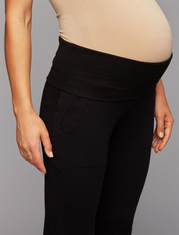 Beyond The Bump Under Belly Super Soft Maternity Jogger Pant, Black