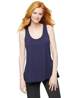 Racerback Maternity Sleep Tank, Navy