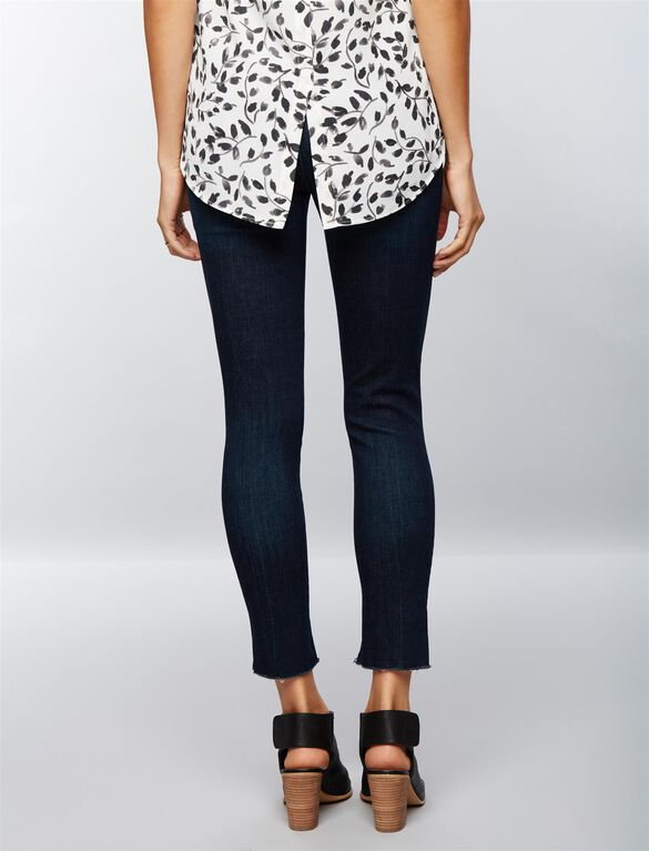 J Brand Secret Fit Belly Uneven Hem Maternity Jeans, Dark Wash