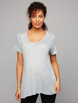 A-line Maternity Tee, Blue Glow