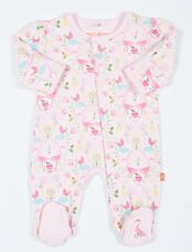 Smart Close Pink Flamingo Newborn Baby Footie, Flamingo