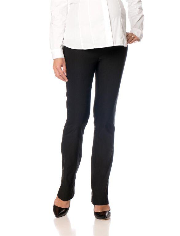 Secret Fit Belly Tech Twill Straight Leg Maternity Pants, Black