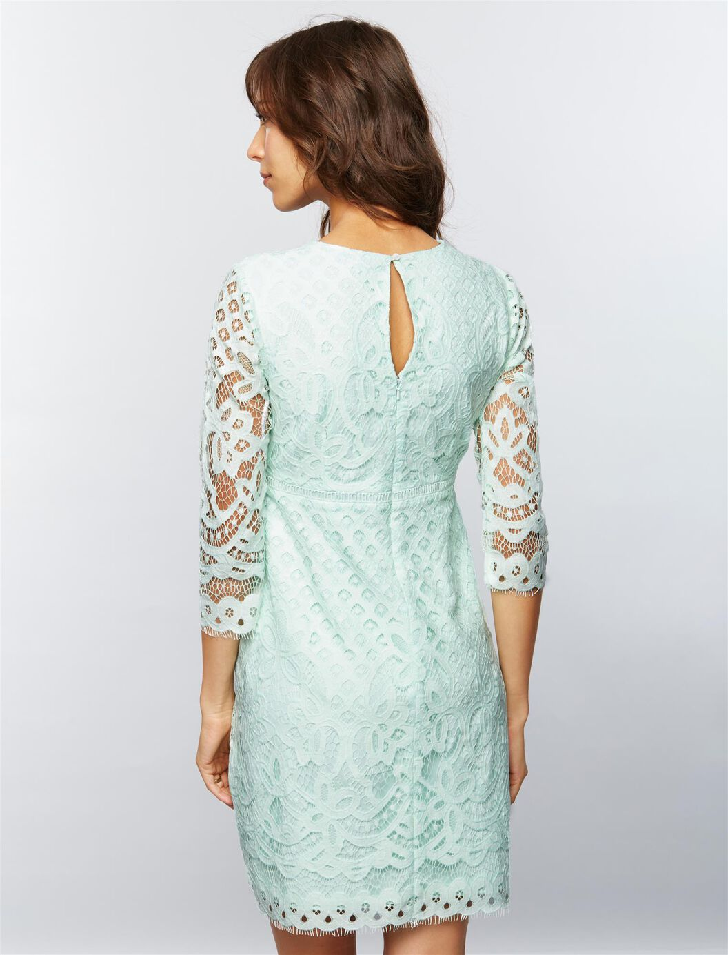 V neck lace maternity dress a pea in the pod maternity v neck lace maternity dress green ombrellifo Choice Image