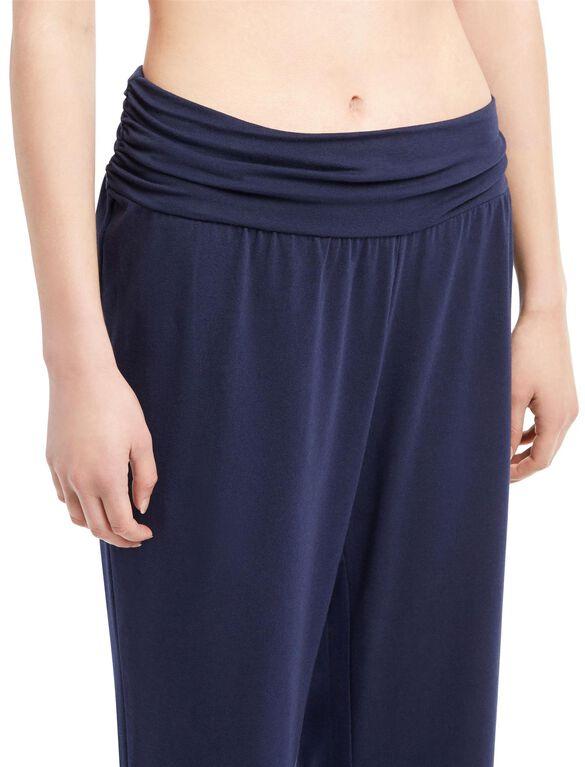 Maternity Sleep Pants- Solid, Navy