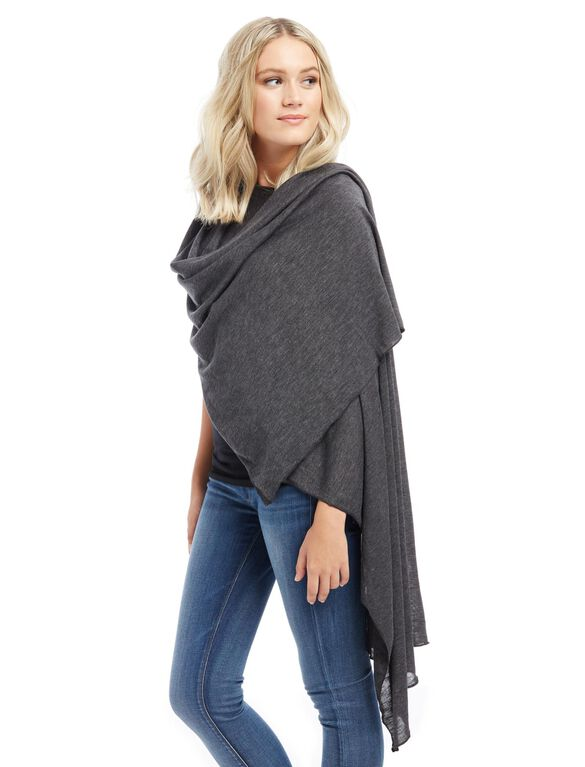 Motherhood Nursing Scarf, Charcoal