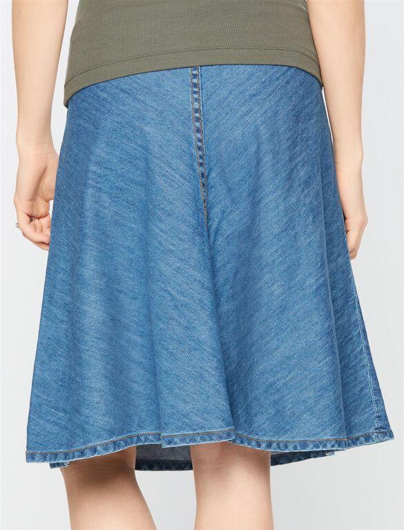 Secret Fit Belly Denim Maternity Skirt, Med Wash