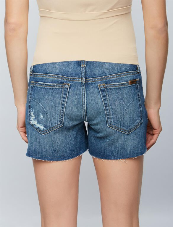 Joe's Jeans Ozzie Cut Off Maternity Shorts, Medium Wash