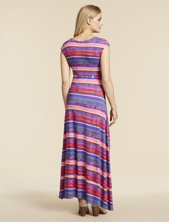 Jessica Simpson Maternity Dress, PINK MULTI STRIPE