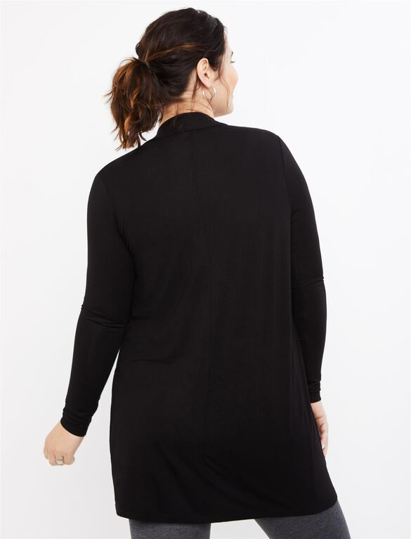 BumpStart Drape Maternity Cardigan, Black