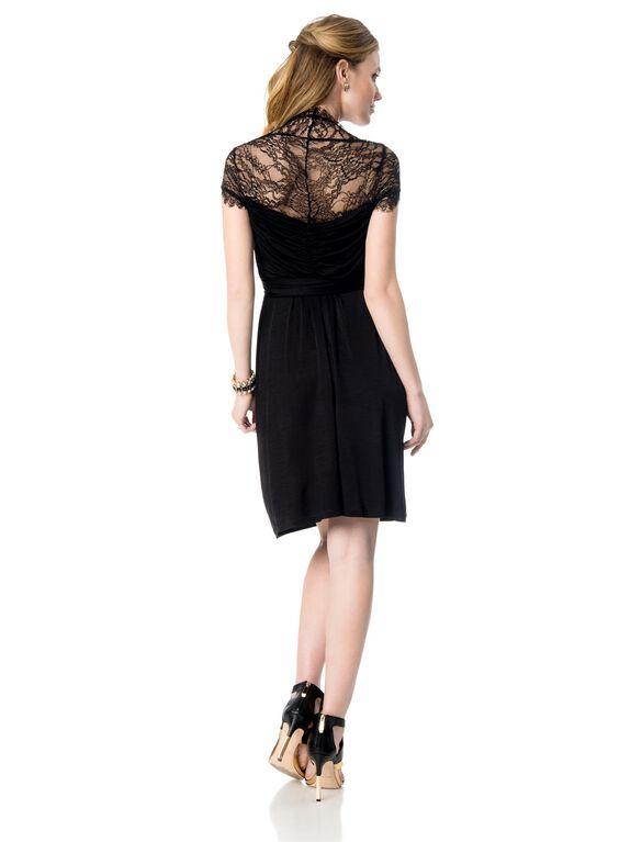Seraphine Lace Maternity Dress, Black