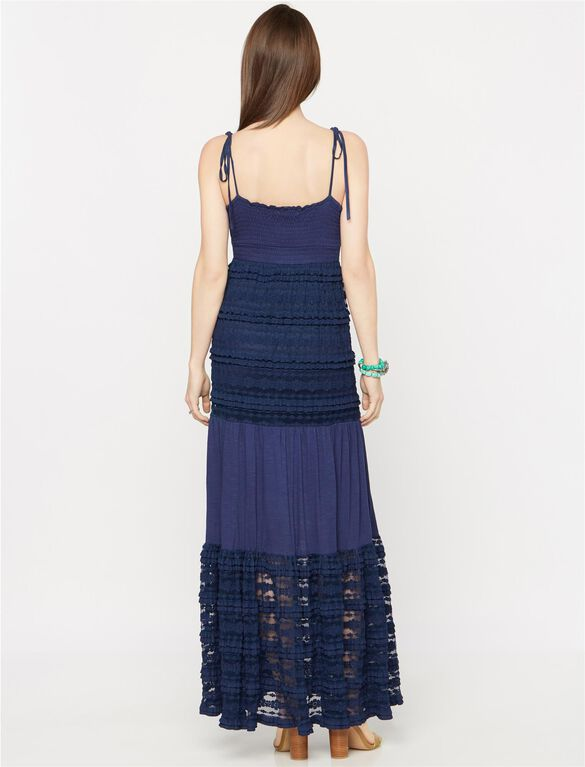 Collective Concepts Lace Maternity Dress, Navy