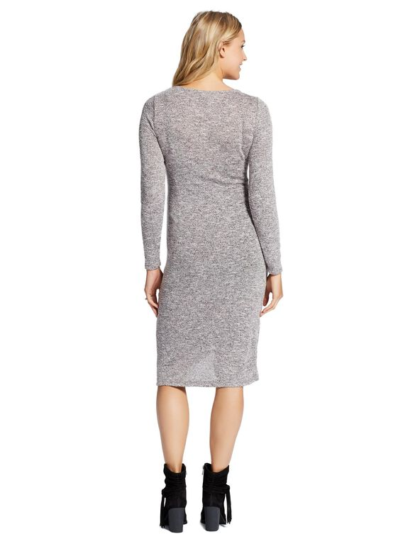 Jessica Simpson Side Ruched Maternity Dress, Heather Grey