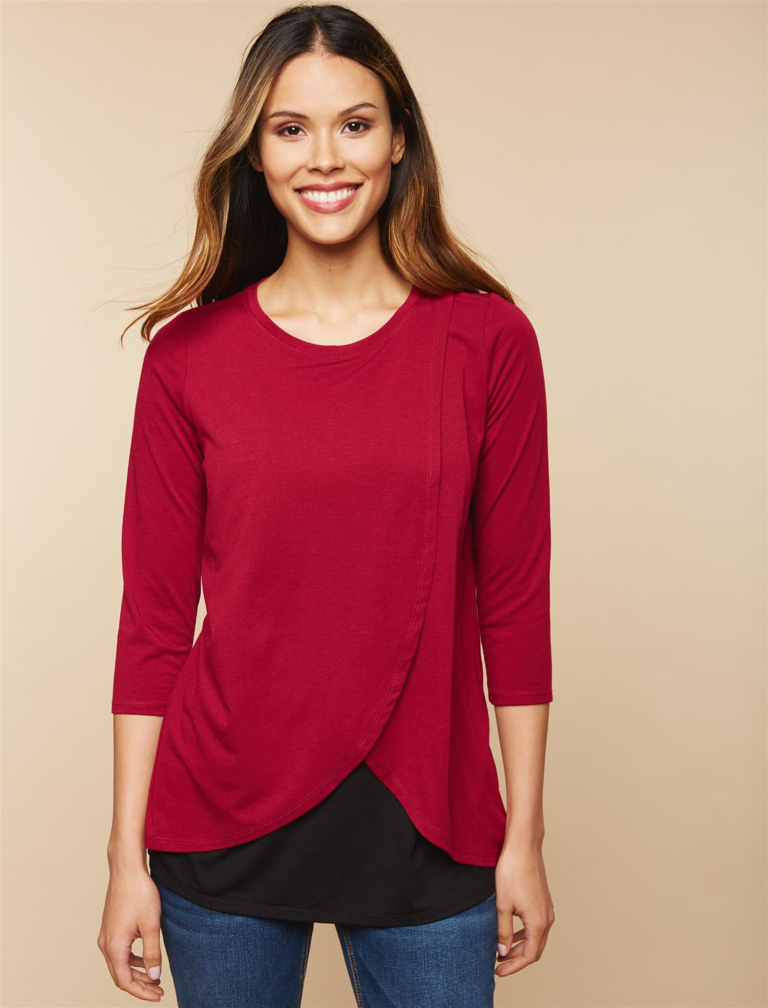 Lift Up Mock Layer Nursing Top
