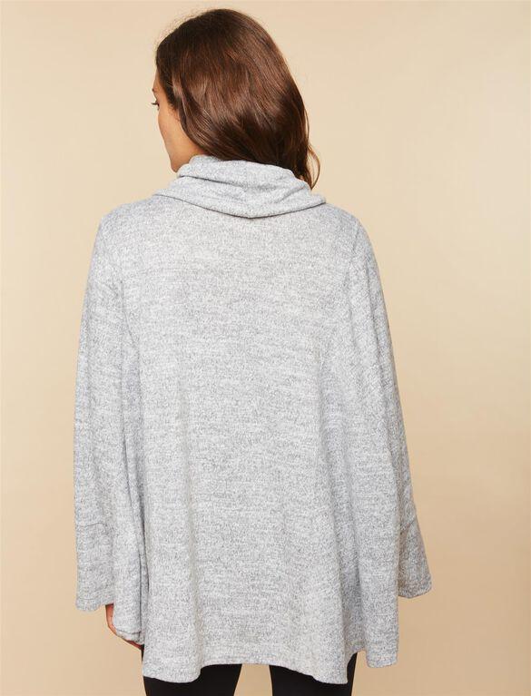 Poncho Maternity Top, Grey