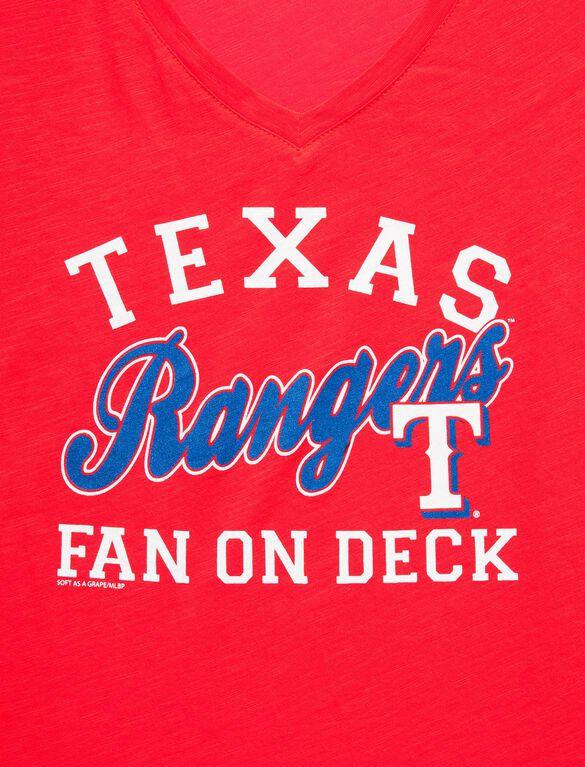 Texas Rangers MLB Short Sleeve Maternity Graphic Tee, Rangers