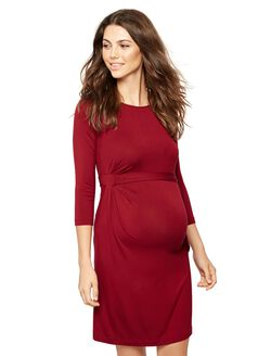 Pietro Brunelli Side Tie Maternity Dress, Red