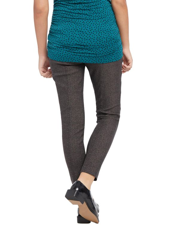 Secret Fit Belly Tech Twill Tweed Maternity Pants, Tweed