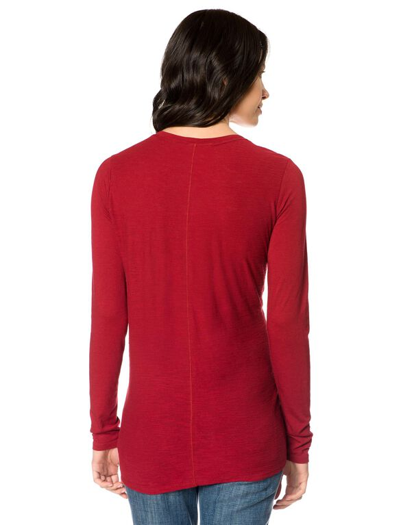 Maternity T Shirt, Rhubarb