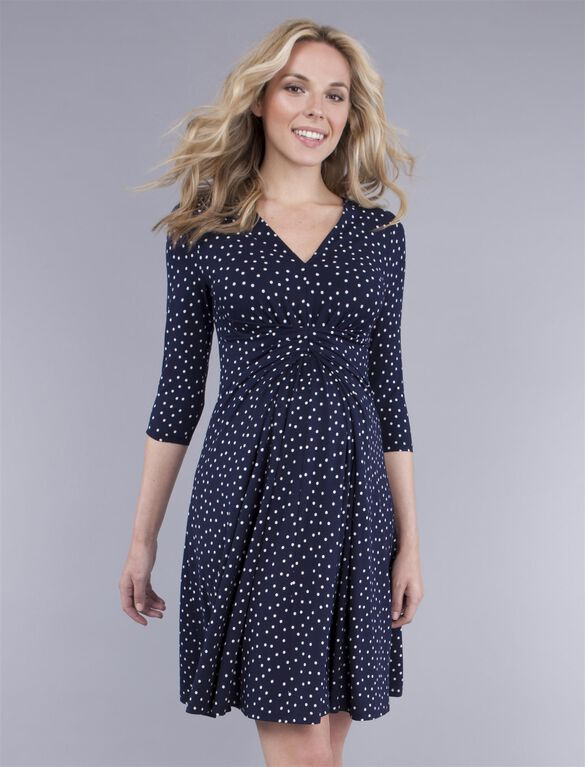 Seraphine Babydoll Maternity Dress, Navy