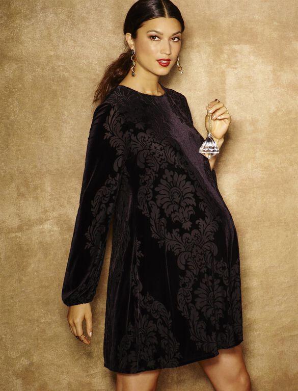 Taylor Paisley Print Maternity Dress, Black