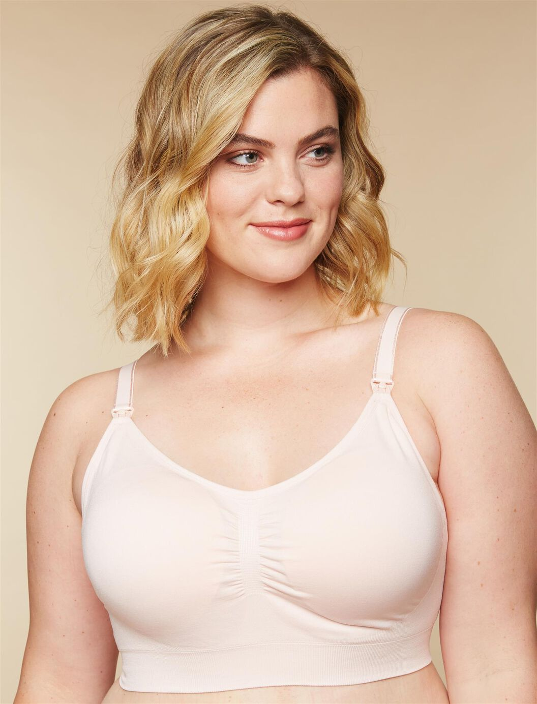 Plus Size Seamless Clip Down Nursing Bra at Motherhood Maternity in Victor, NY | Tuggl