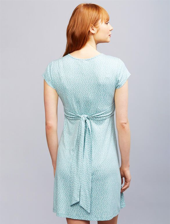 Seraphine Jolene Short Sleeve Maternity Dress- Sage Dot, Sage Dot...