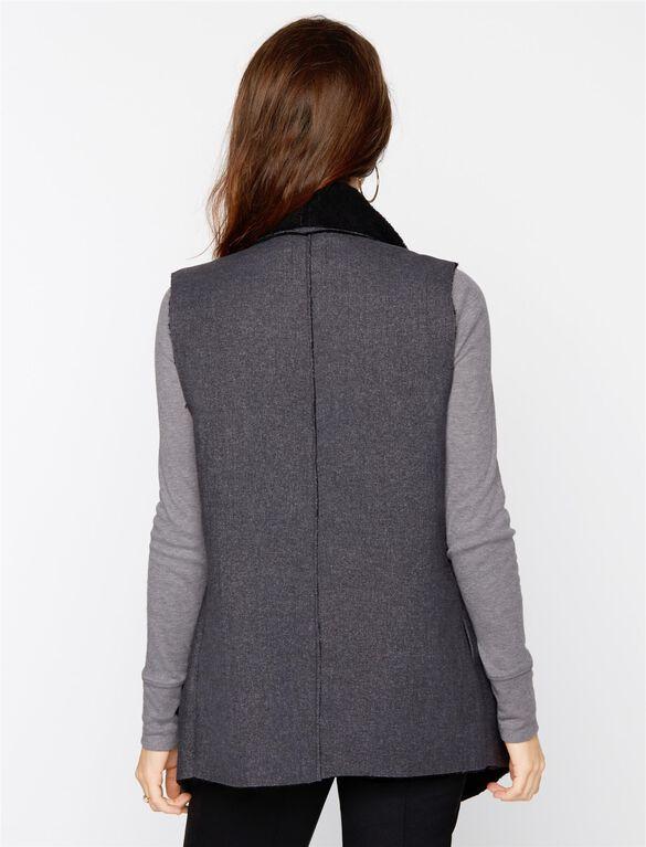 Splendid Cotton Woven Maternity Vest, Charcoal