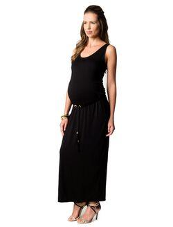 Rachel Zoe Tie Detail Maternity Maxi Dress, Black