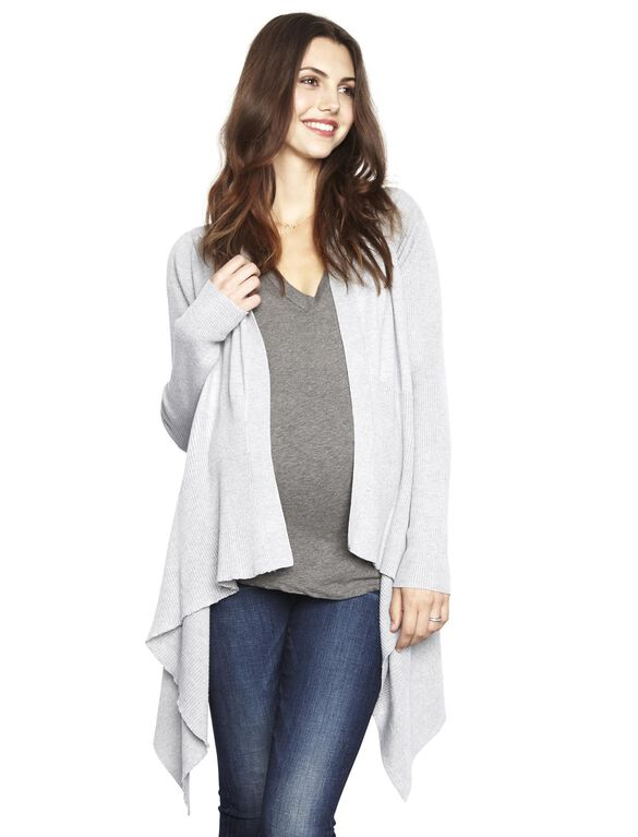 Line Maternity Sweater, Heather Grey