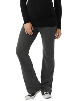 Under Belly French Terry Maternity Active Pants, Charcoal