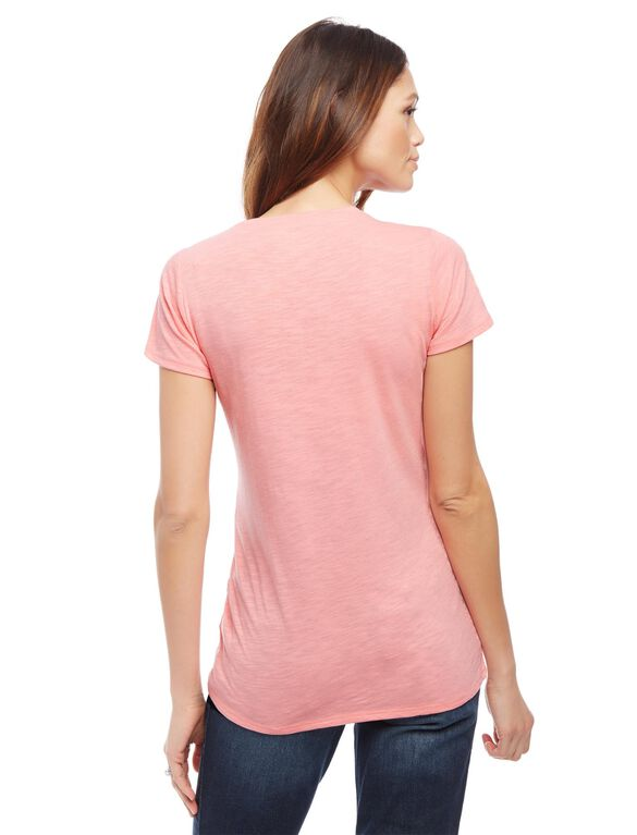 Team Bow Maternity Tee, Pink
