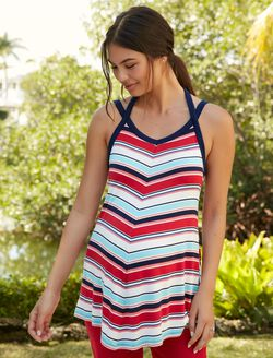 Jessica Simpson Swing Maternity Tank Top, Multi Striped