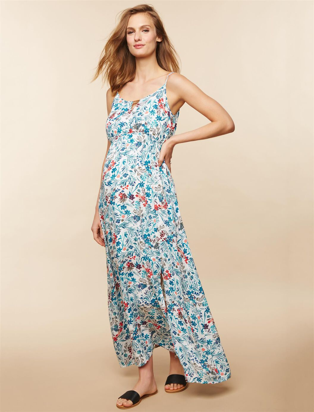 Floral Maternity Maxi Dress at Motherhood Maternity in Victor, NY | Tuggl