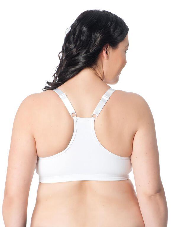Sports Clip Down Nursing Bra, White