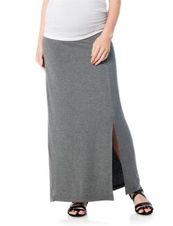 Self Belly Maternity Skirt, Charcoal