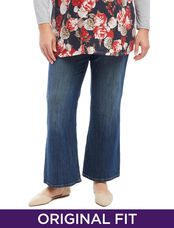 Plus Size Secret Fit Belly Dark Maternity Jeans, Dark