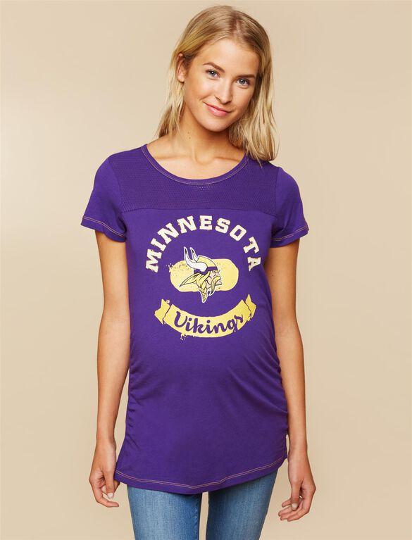 Minnesota Vikings NFL Mesh Detail Maternity Tee, Vikings