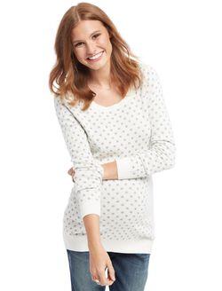 Dot Maternity Sweater, Grey/White Dot