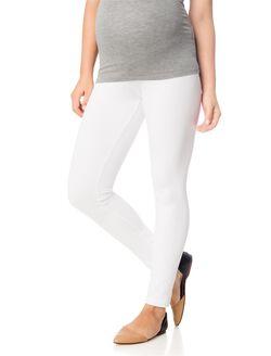 Secret Fit Belly Maternity Leggings- Solid, White