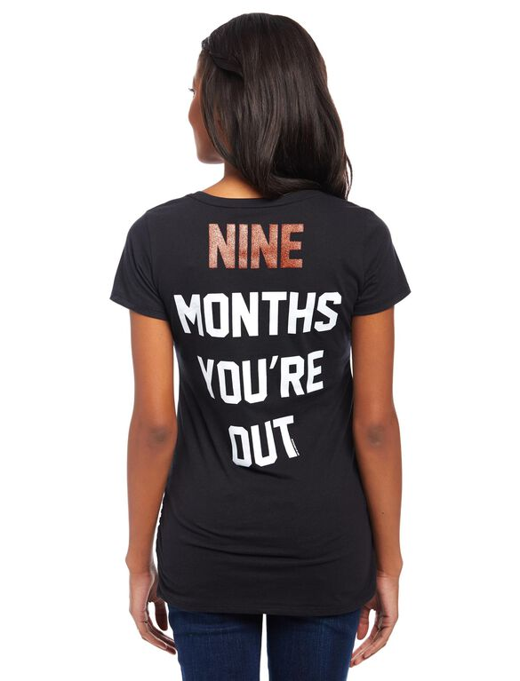 San Francisco Giants MLB You're Out Maternity Tee, Giants Black