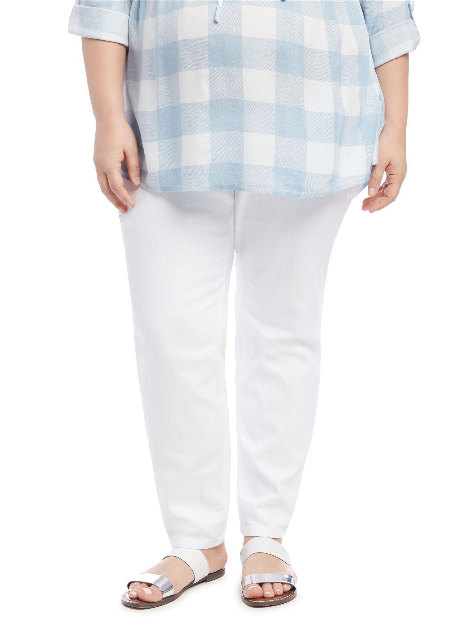Plus Size Secret Fit Belly Skinny Leg Maternity Jeans
