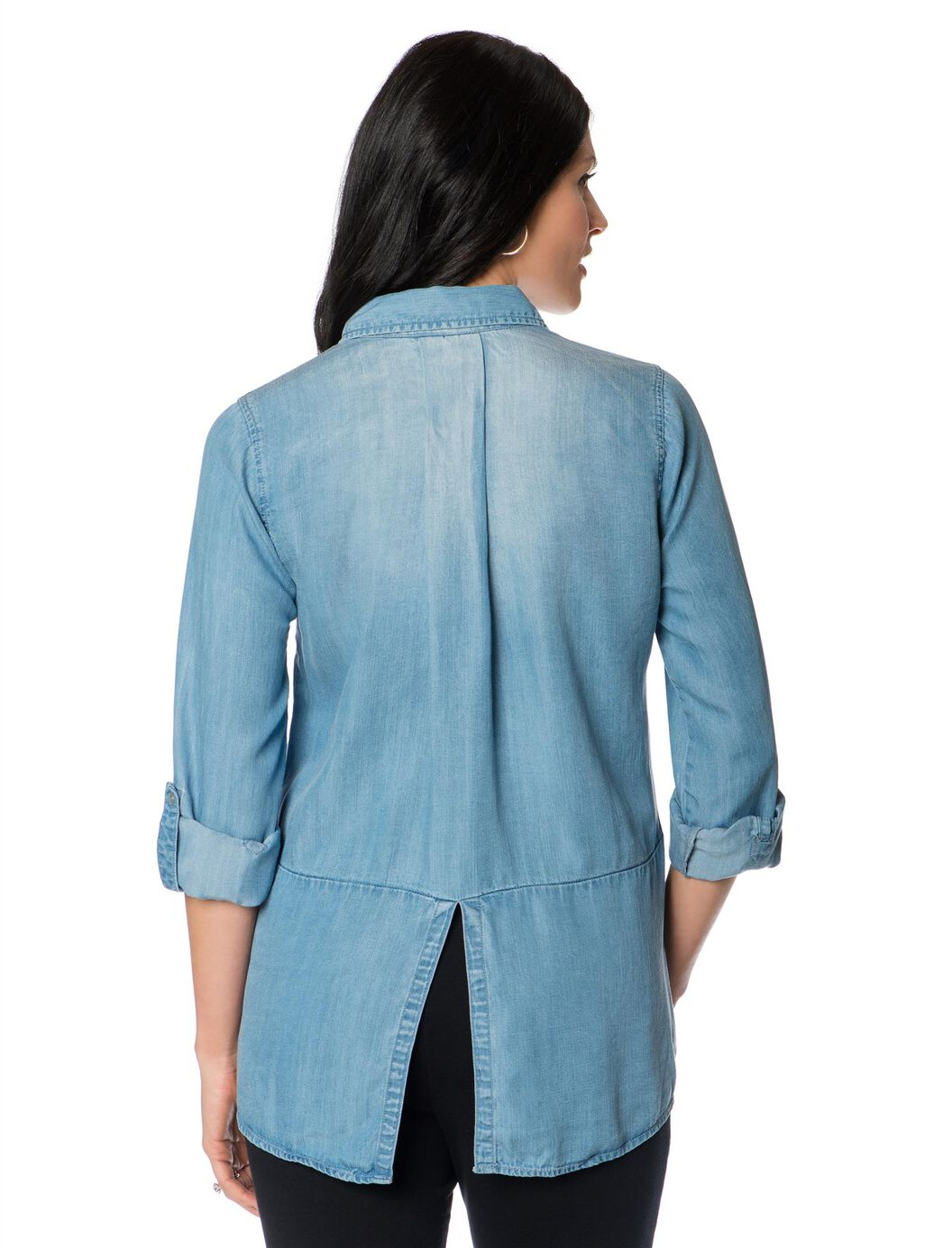 Wendy Bellissimo Light Chambray Maternity Shirt