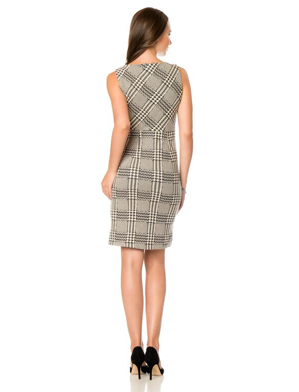 Pencil Fit Maternity Dress, Houndstooth