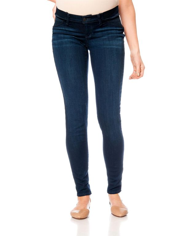 A Pea In The Pod Jeans Side Panel Skinny Leg Maternity Jeans, Dark Wash