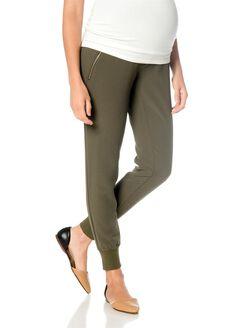 Secret Fit Belly Crepe Slim Leg Maternity Jogger Pant, Olive